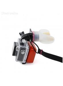 סט מנשך נשכן + מצוף + רצועה לצוואר למצלמת אקסטרים GoPro / SJCAM