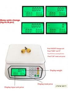 """משקל דיגיטלי עד 30 ק""""ג דיוק 1 גרם למטבח DT-570 *במלאי מיידי*"""