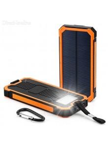 מטען סולארי אוניברסאלי 10000Mah עמיד למים מכות ואבק D2256 *במלאי מיידי*