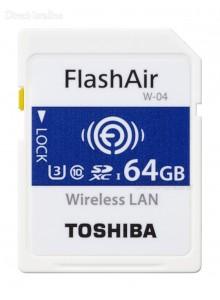 Toshiba 64GB FlashAir SD Wireless W-04 דור 4