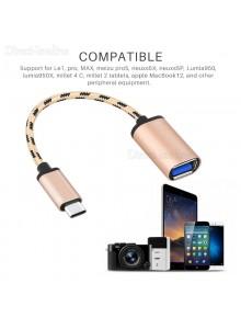 מתאם Type C to USB 2.0 OTG כבל באיכות פרימיום לסמארטפונים *במלאי מיידי*