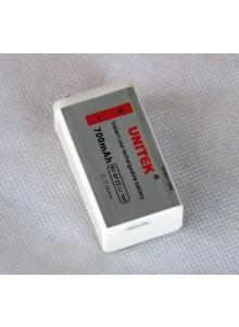 סוללה נטענת USB 9V UNITEK 700mAh *במלאי מיידי*