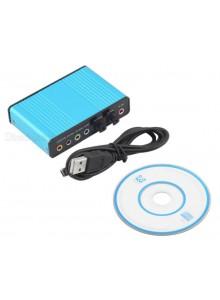 USB 2.0 7.1 Audio Sound Box CM6206 כרטיס קול חיצוני  *במלאי מיידי*