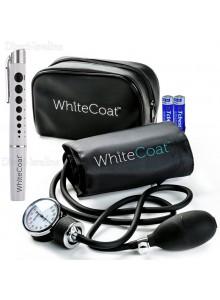 סט מד לחץ דם עם פנס רפואי White Coat WS-01