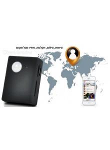 מכשיר ציתות ואזעקה מגלה תנועה, מקליט אודיו ווידאו ומתקשר פועל ברשת GSM בהכנסת כרטיס SIM *במלאי מיידי*