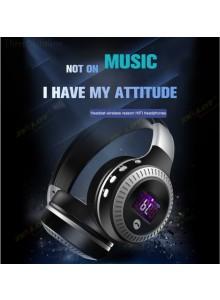 אוזניות בלוטוס אלחוטיות לטלפון עם נגן MP3 רדיו FM וקורא כרטיסים Zealot B19