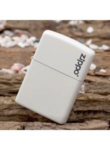 מצית זיפו Zippo 214ZL Zippo Logo White Matte *במלאי מיידי*