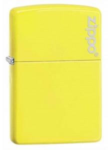 מצית זיפו Zippo 28887ZL Zippo Logo Neon Yellow Finish *במלאי מיידי*