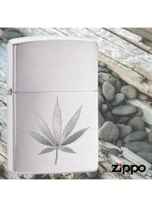 מצית זיפו Zippo 29587 Laser Engraved Marijuana Leaf *במלאי מיידי*