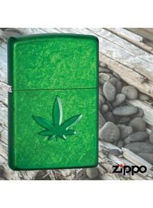 מצית זיפו Zippo 29662 With Stamped Marijuana Leaf *במלאי מיידי*