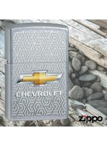 מצית זיפו Zippo 29745 Chevrolet Logo Chevy Street Chrome Finish *במלאי מיידי*