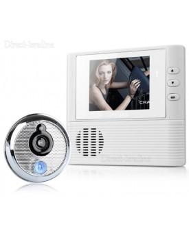 עינית דיגיטלית לדלת 2.8 אינץ עם זום ראיית לילה הקלטה ופעמון D2325 *במלאי מיידי*