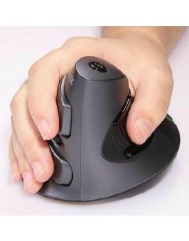 עכבר ארגונומי אנכי אורטופדי מעוצב אלחוטי למניעת כאבים בכף היד (ימין) DELUX M618
