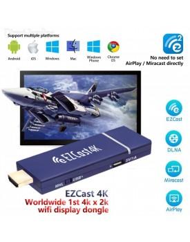 סטרימר אלחוטי EZCast 4K Pro DLNA Mirascreen Airplay Support 4 to 1 Split Screens *במלאי מיידי*
