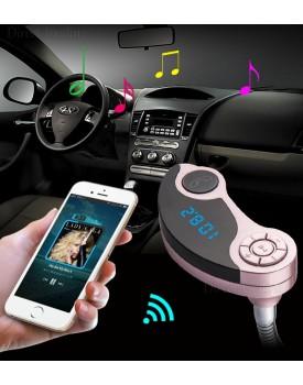 משדר FM ודיבורית בלוטוס לרכב עם חיבור AUX ושני שקעי טעינה *במלאי מיידי* GT86