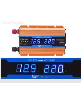 ממיר מתח באיכות פרימיום עם תצוגה דיגיטלית בהספק 250W / 500W הספק עבודה קבוע לרכב בחיבור למצבר הרכב TCI-500