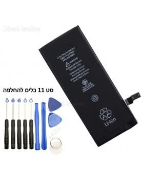 סוללה תחליפית ל: IPHONE 6 1810mah כולל סט 11 כלים להחלפה *במלאי מיידי*