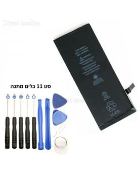 סוללה תחליפית ל: IPHONE 6S 1715mah כולל סט 11 כלים להחלפה *במלאי מיידי*
