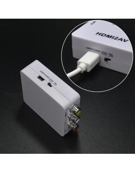 מתאם HDMI to RCA AV / Composite