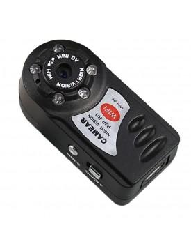 מצלמת אבטחה אלחוטית מיני עם ראיית לילה Q7 WIFI *במלאי מיידי*