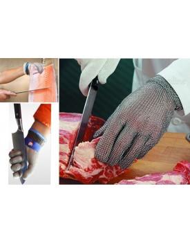 כפפות עבודה מקצועיות לקצבים נגד חיתוך עשויות חוטי נירוסטה D2468 *במלאי מיידי*