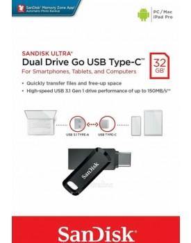 SanDisk SDDDC3-032G 32GB Ultra Dual Drive Go USB 3.1 Type-C *במלאי מיידי*