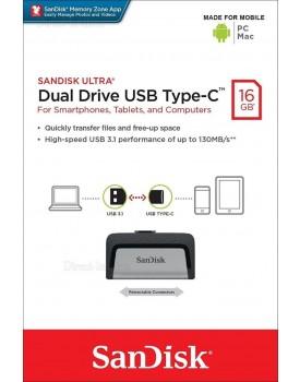 SanDisk Ultra Dual Drive Type-C 16GB SDDDC2-016G *במלאי מיידי*