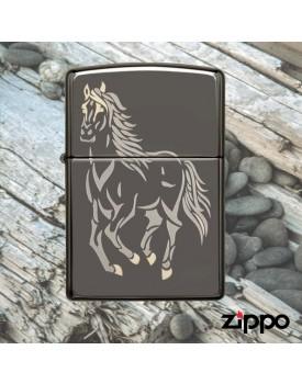 מצית זיפו Zippo 28645 Laser Engraved Running Horse *במלאי מיידי*
