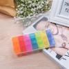 קופסא לתרופות עם 21 תאים בצבעים שונים לזמני בוקר/צהריים/ערב לקיחת כדורים D1511 *במלאי מיידי *