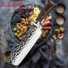 *סכין קצבים לשף, מקצועית עשויה פלדה יפנית עשירה בפחמן בגימור ריקועים D3919 *במלאי מיידי