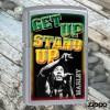 מצית זיפו Zippo 78846 Bob Marley Get Up Stand Up Street Chrome Finish *במלאי מיידי*